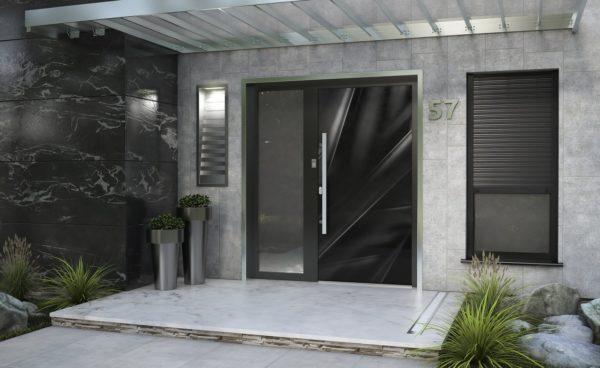 Drzwi z panelem szklanym MB 86