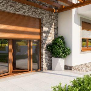 Rolety z moskitierą - okno PVC IGLO Energy